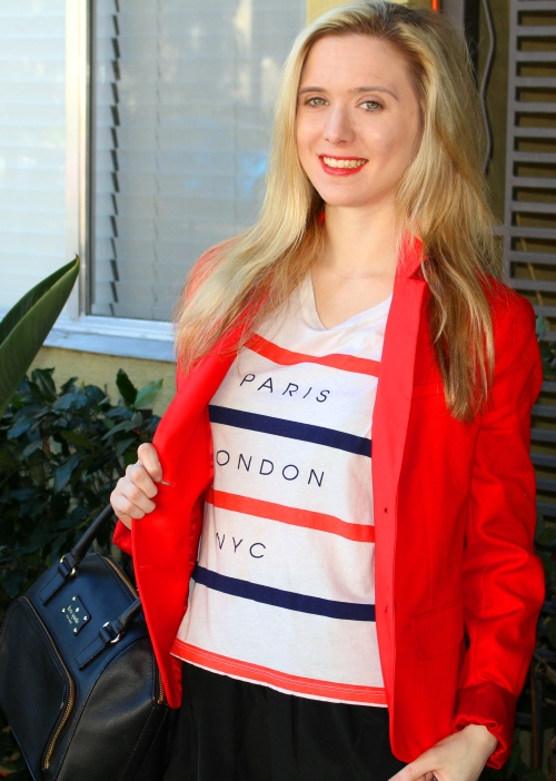 Gap Red Blazer Kate Spade Purse