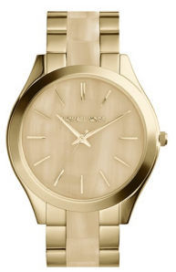 "Michael Kors ""Slim Runway"" Round Watch"